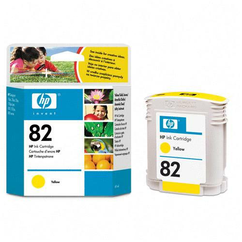 HP Genuine #82 Ink Cartridge Yellow
