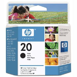 HP Genuine #20 Ink Cartridge Black (500 Pages)