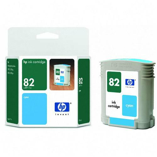 HP Genuine #82 Ink Cartridge Cyan